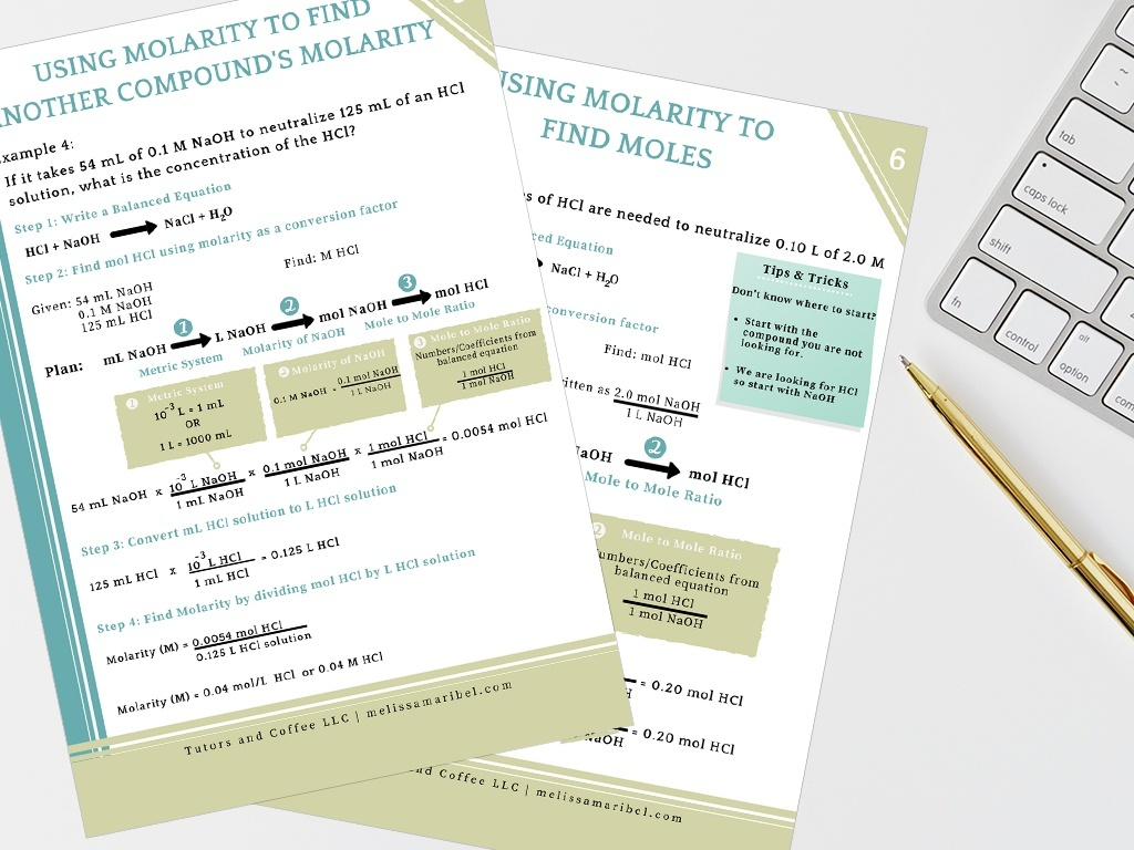 Molarity Notes