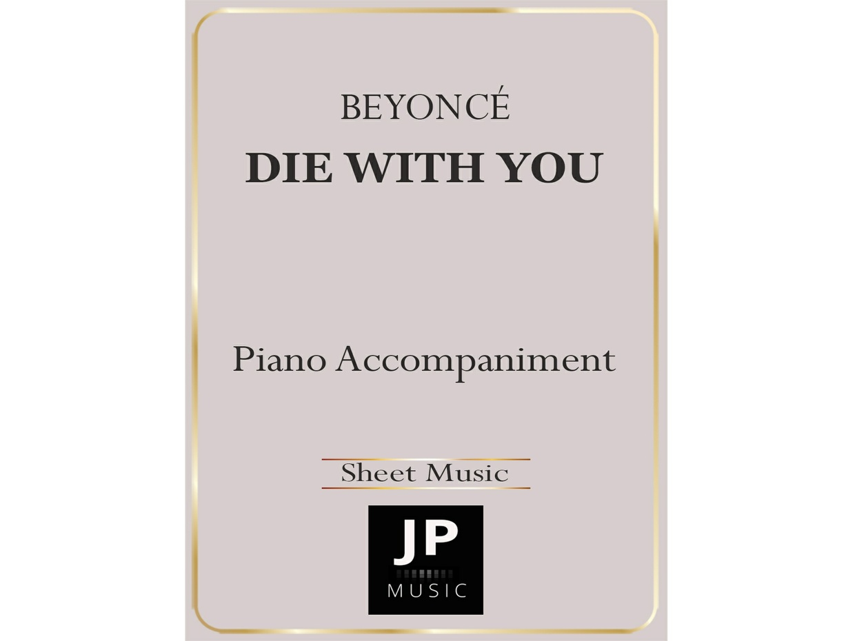 Die With You - Piano Accompaniment
