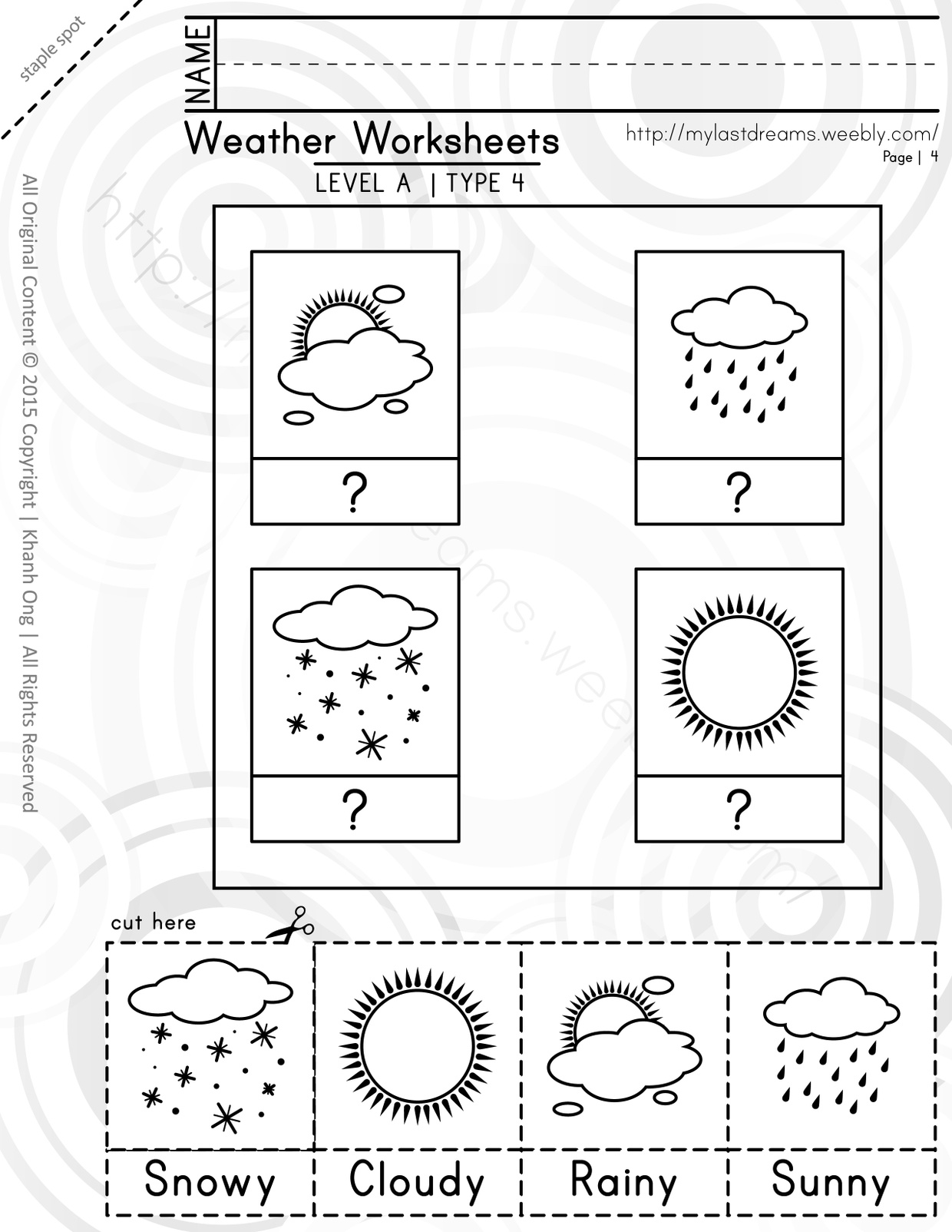 MLD - Basic Weather Worksheets - Part 1 - Letter Sized