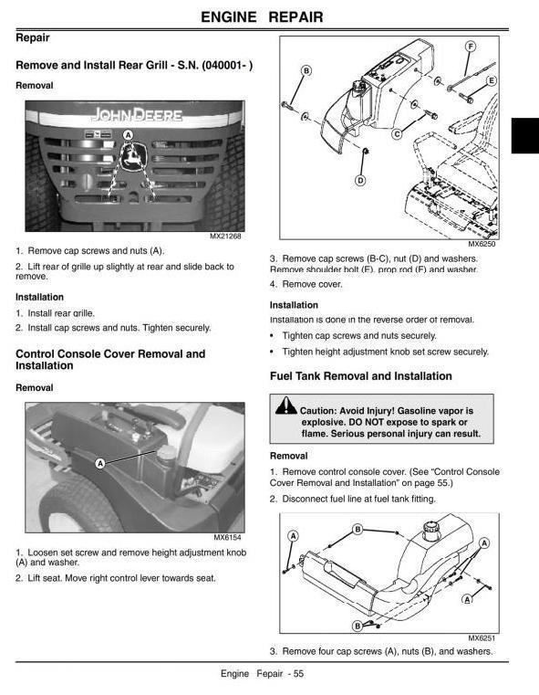 John Deere Mid-Frame Z-Trak™ Mower 737, 757 Technical Service Manual (tm2199)