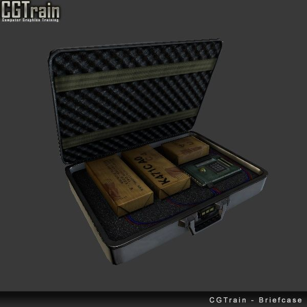 Briefcase with explosives - 3D Asset for games
