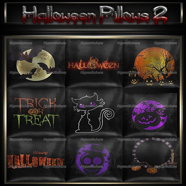 [H]HALLOWEEN PILLOWS 2-30 TEXTURES