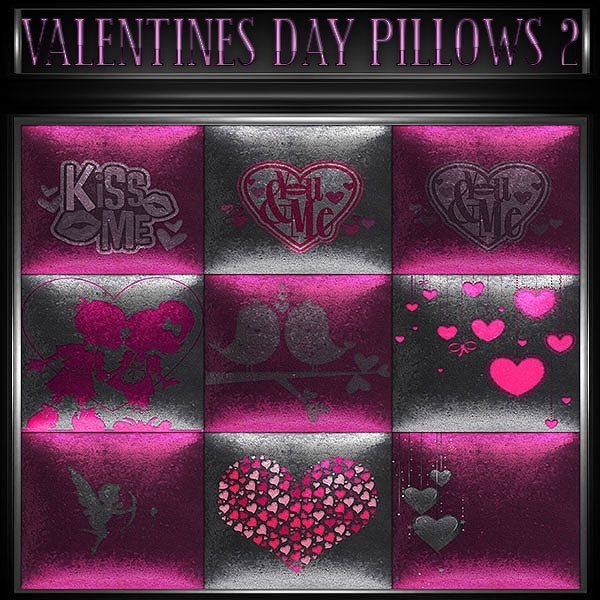 A~VALENTINES DAY PILLOWS 2-30 TEXTURES