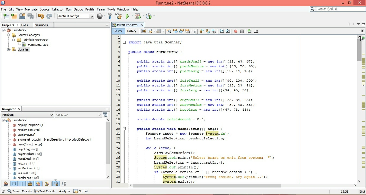 Product Selection and Total Amount calculation in Java