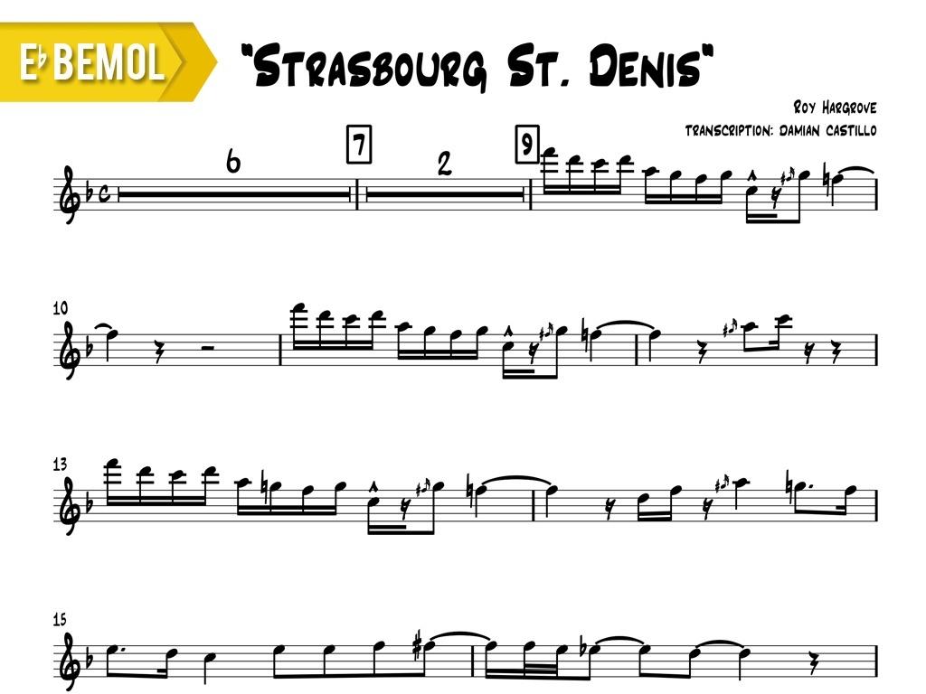 "Roy Hargrove - ""Strasbourg St. Denis"" - Eb"