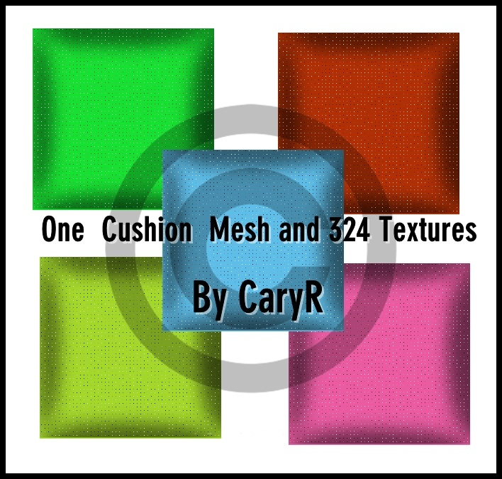 One Cushion Mesh And 324 textures