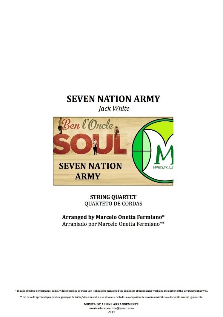 Seven Nation Army | Ben l'Oncle Soul | Quarteto de Cordas | Partitura Completa