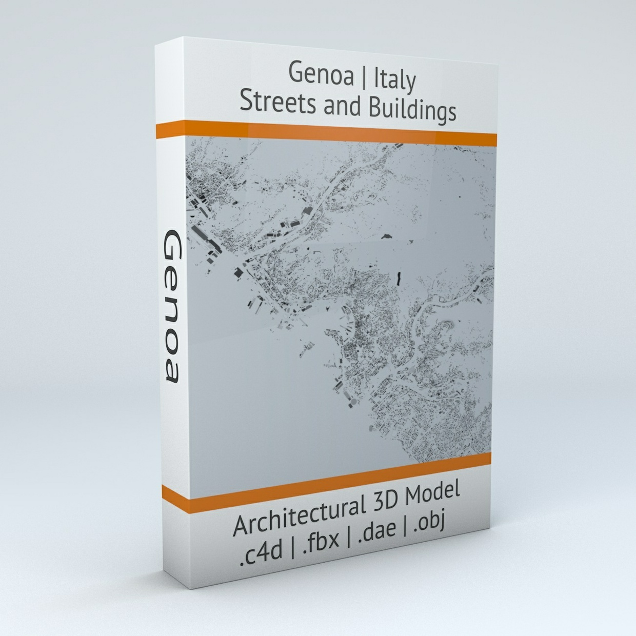 Genoa Streets and Buildings Architectural 3D Model