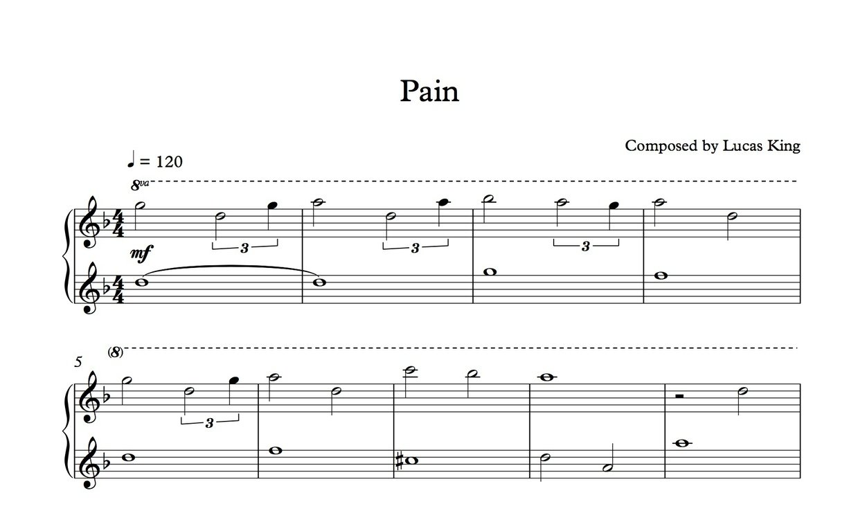Lucas King - Pain Sheet Music