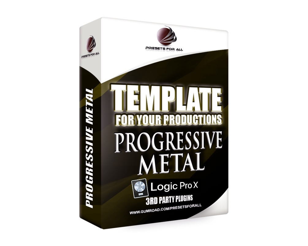 Template For Your Productions - PROGRESSIVE METAL (Logic Pro X Version)