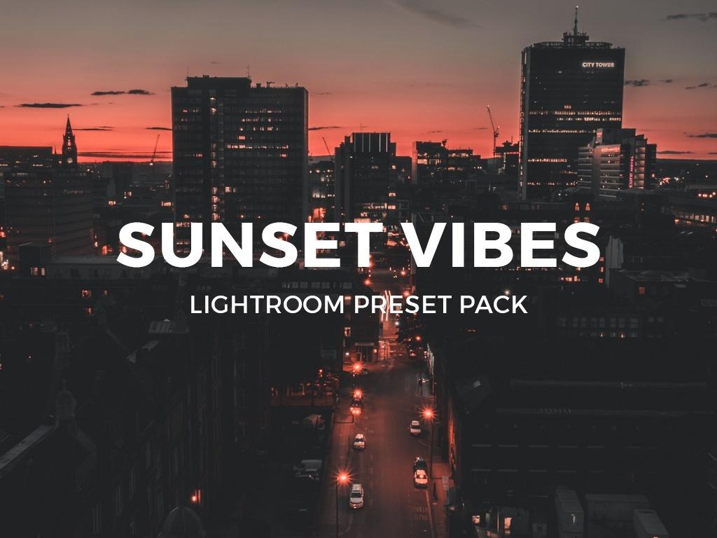 SUNSET VIBES LIGHTROOM PRESET PACK