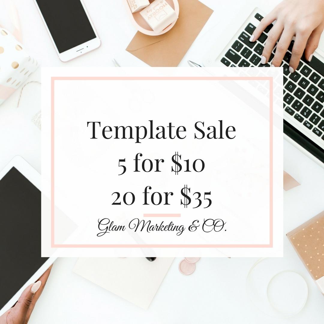 Branding Template December Sale! 5 Templates