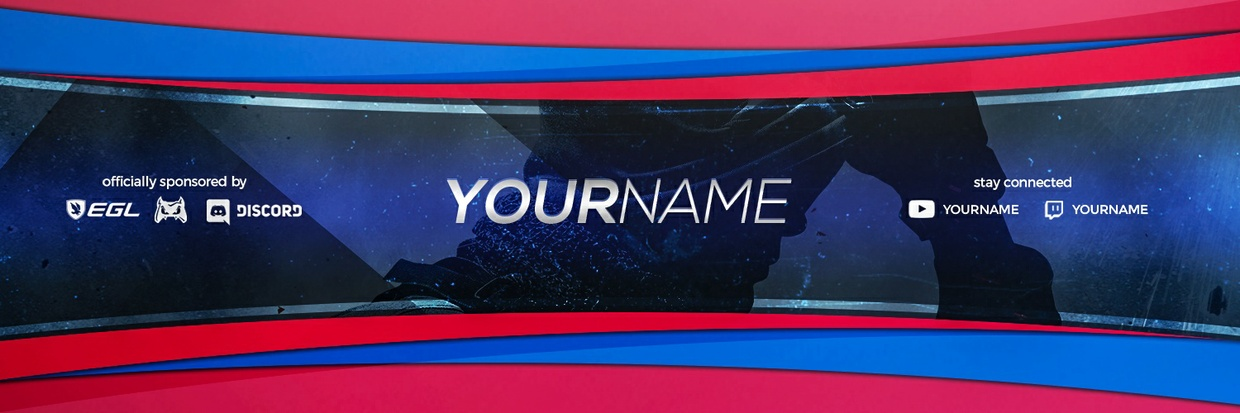 Template 2d Clean Header Twitter Gaming