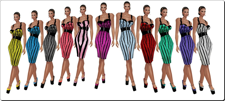 Stripe Magazine Dresses