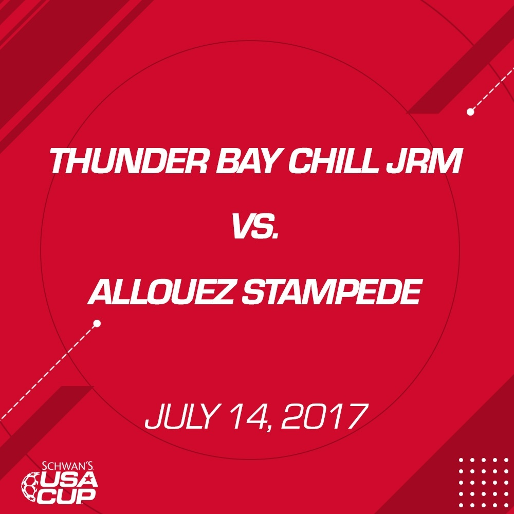 Boys U16 - July 14, 2017 - Thunderbay Chill JRM vs Allouez Stampede
