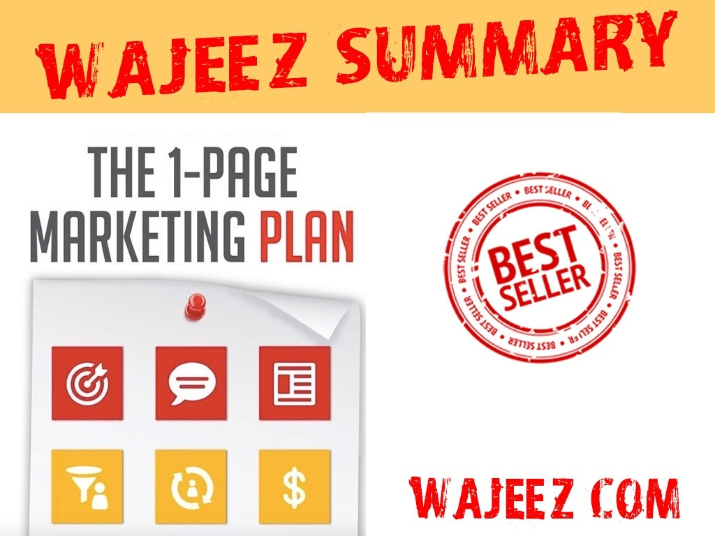 [Wajeez Summary] 1-Page Marketing Plan Book (+marketing plan sample)