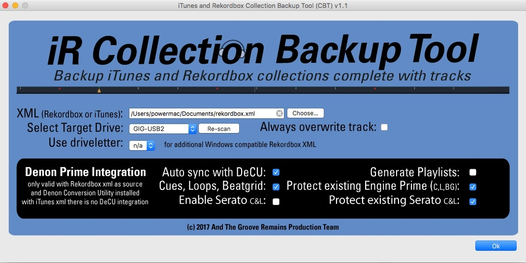 iTunes Rekordbox Collection Backup Tool for MacOS