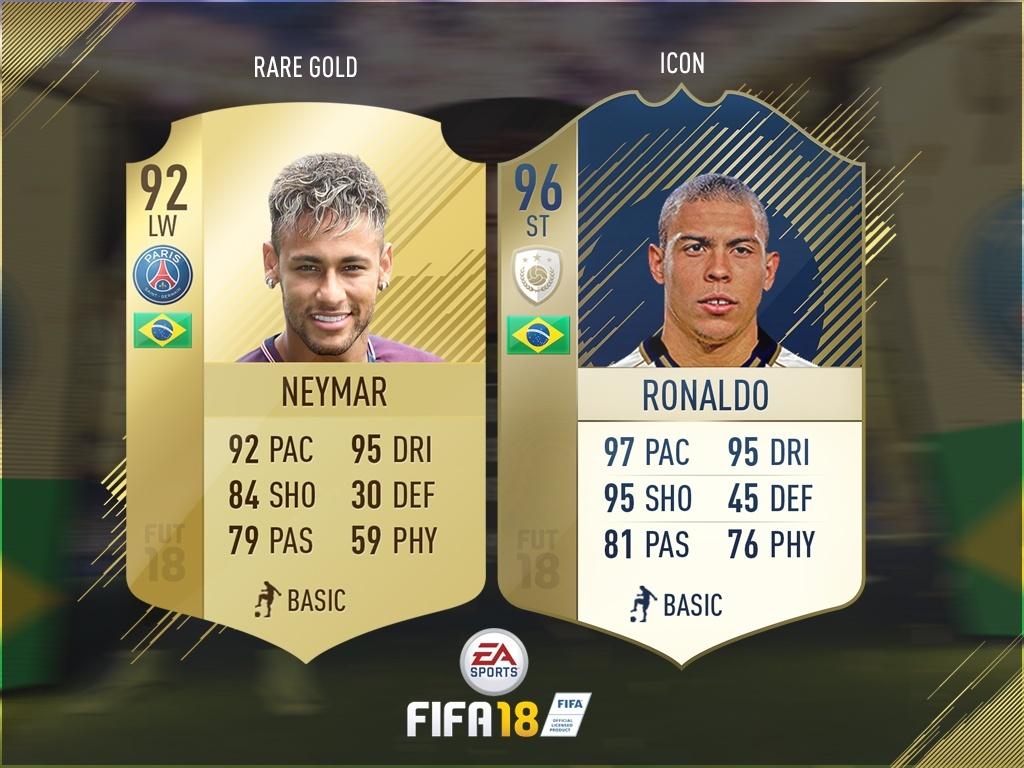 FIFA 18 OFFICIAL RARE GOLD CARD + ICON CARD TEMPLATE