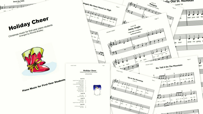 Holiday Cheer Christmas at the piano Beginner
