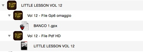 LITTLE LESSON VOL 12 - Format Pdf (in omaggio file Gp6)