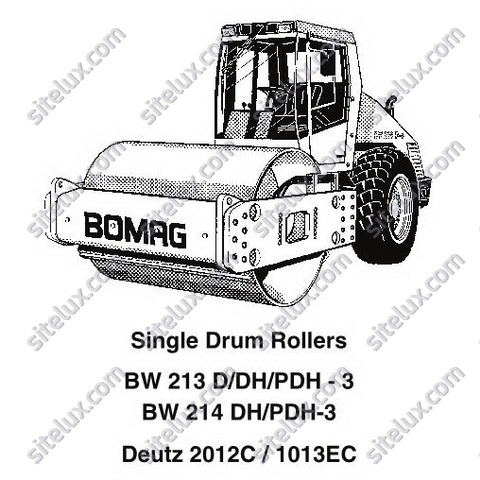 Bomag BW 213/214 D/DH/PDH-3 Single Drum Rollers Service Training