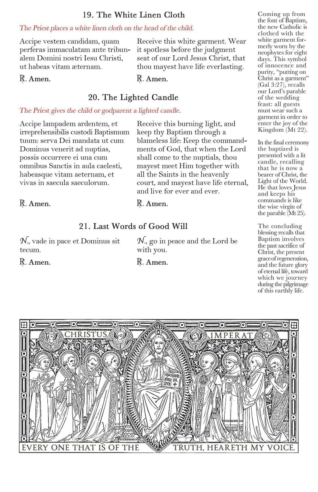 Traditional Catholic Baptism Program (Customizable)