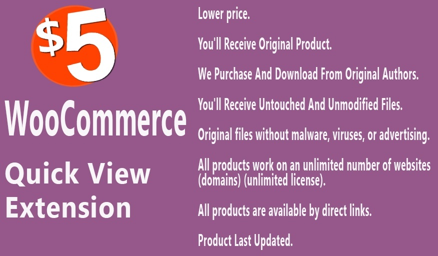 WooCommerce Quick View Extension