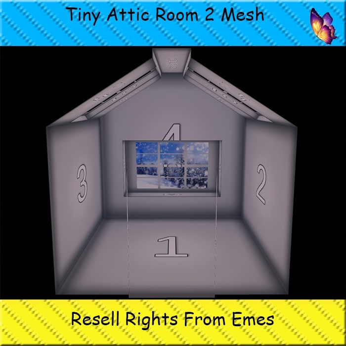 Tiny Attic Room 2 Mesh Catty Only!!!