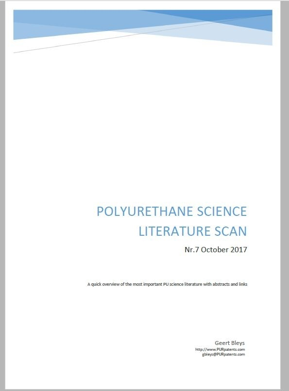 Polyurethane Science Scan Nr.7 - October 2017