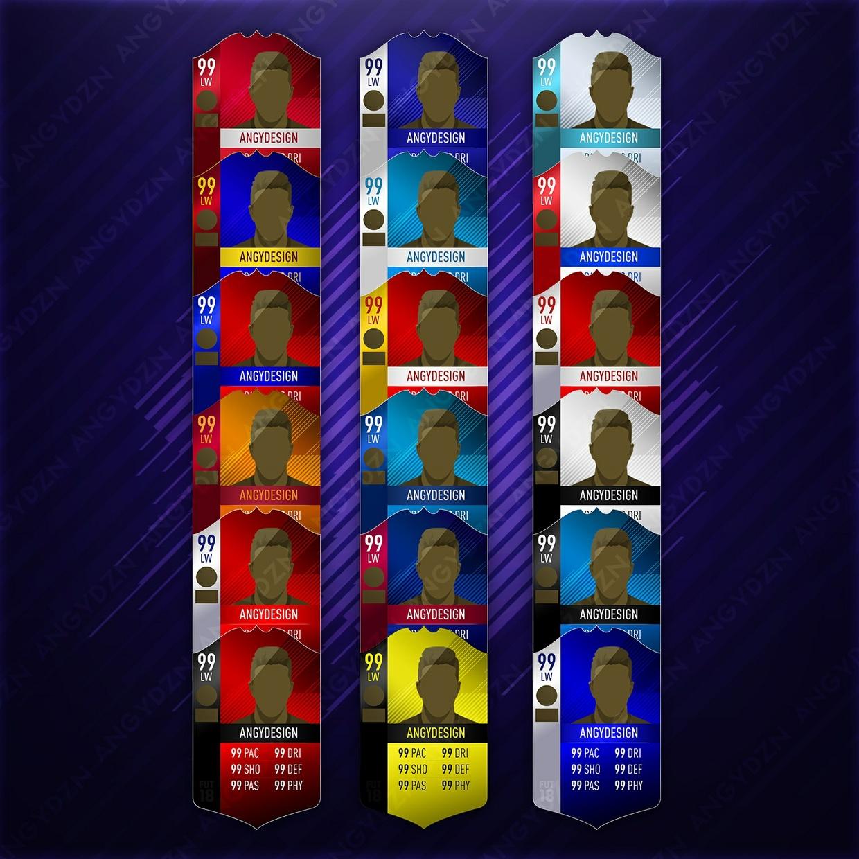 FIFA 18 Club Cards (18 cards PSD)