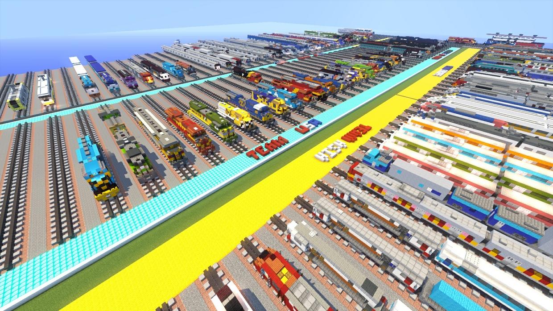 WORLDONE Minecraft Trains World