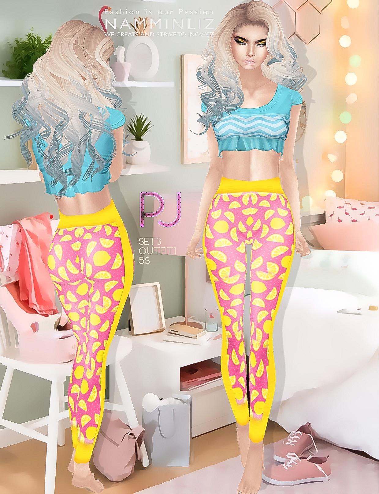 PJ Full SET  imvu 4 Outfits Texture JPEG