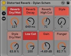 Ableton Live 9 - Distorted Reverb - Free Rack