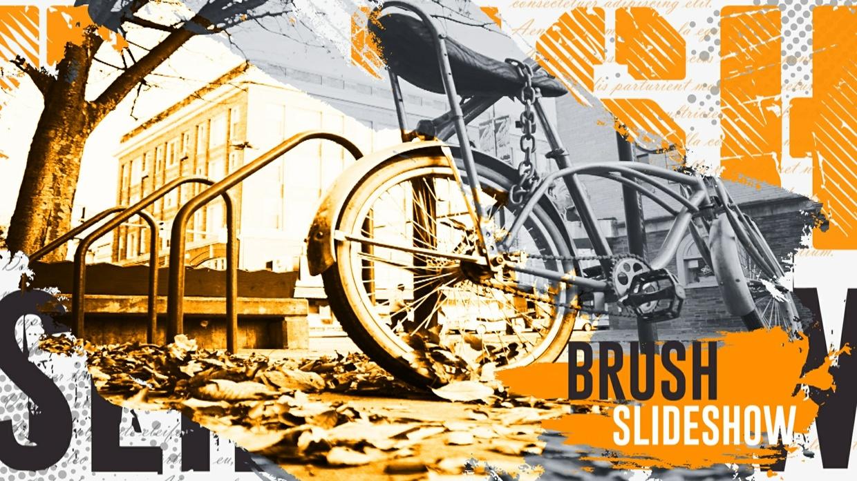 Template The Brush Slideshow sony vegas 12 13 14
