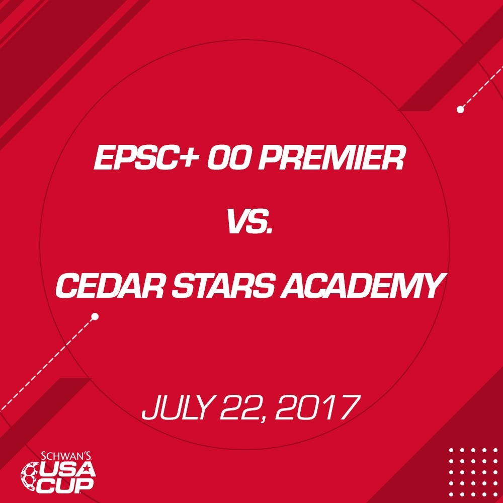 Boys U17 Gold Final - July 22, 2017 - EPSC+ 00 Premier vs Cedar Stars Academy