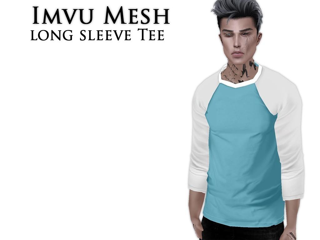 IMVU Mesh -  Tops - Long Sleeve Tee