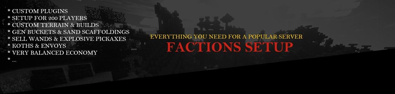 Master Setups « ⭐️ » Factions Setup « ⭐️ » Fully Configured « ⭐️ » Ranks, GKitz, Menus, & More!