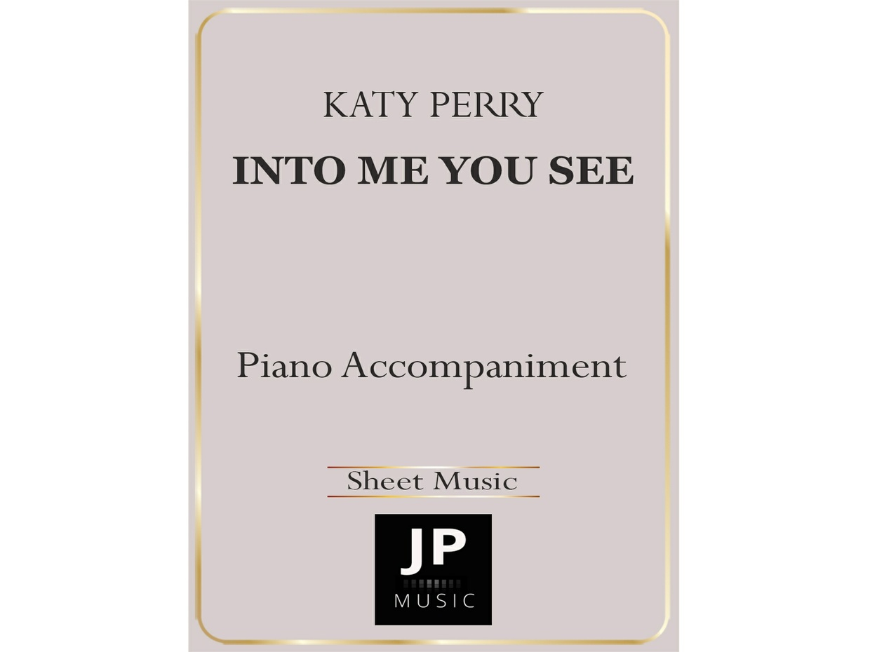 Into Me You See - Piano Accompaniment