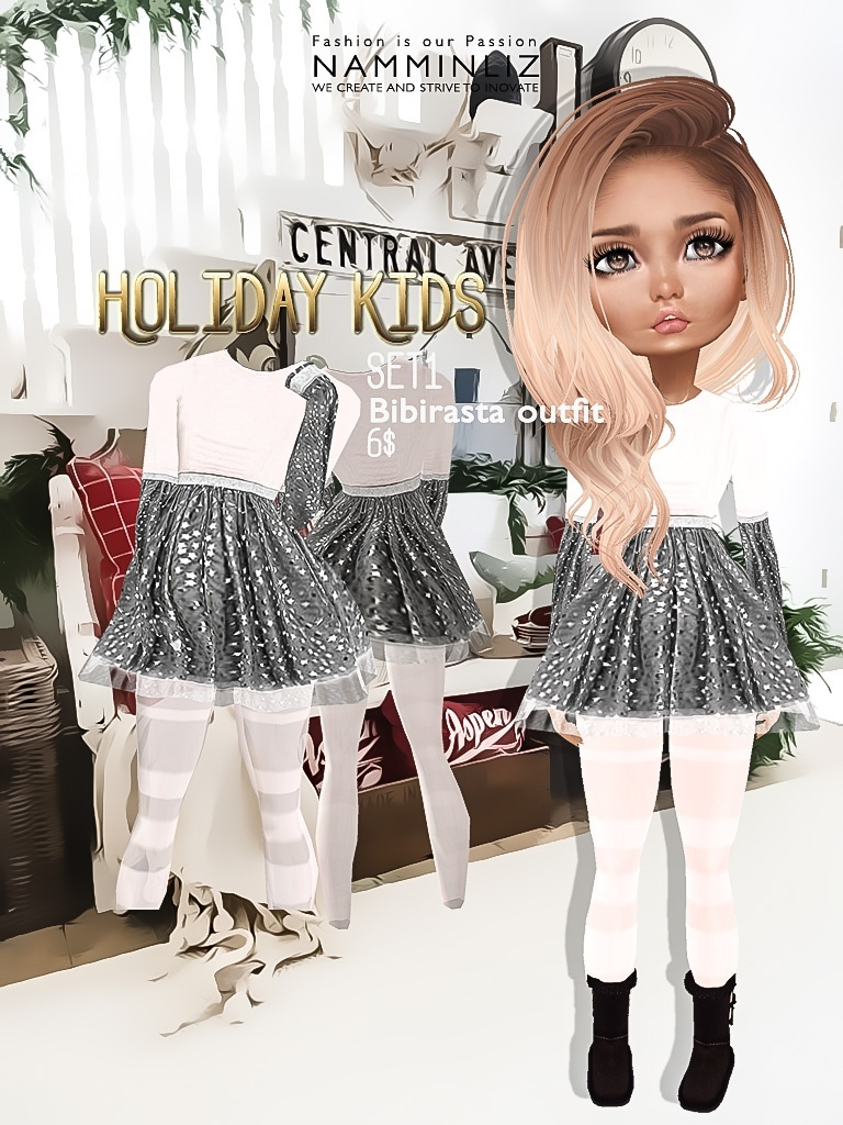Holiday Kids Full Set imvu texture JPG bibirasta 4 outfits NAMMINLIZ filesale