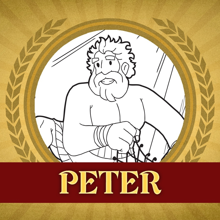 The Heroes of the Bible Coloring Pages: Peter