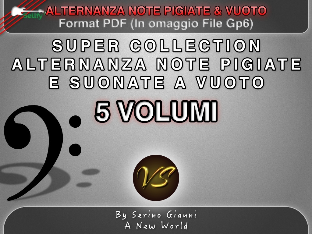 COLLECTION 5 VOLUMI  - ALTERNANZA NOTE PIGIATE & VUOTO - FORMAT PDF (IN OMAGGIO FILE GP6)