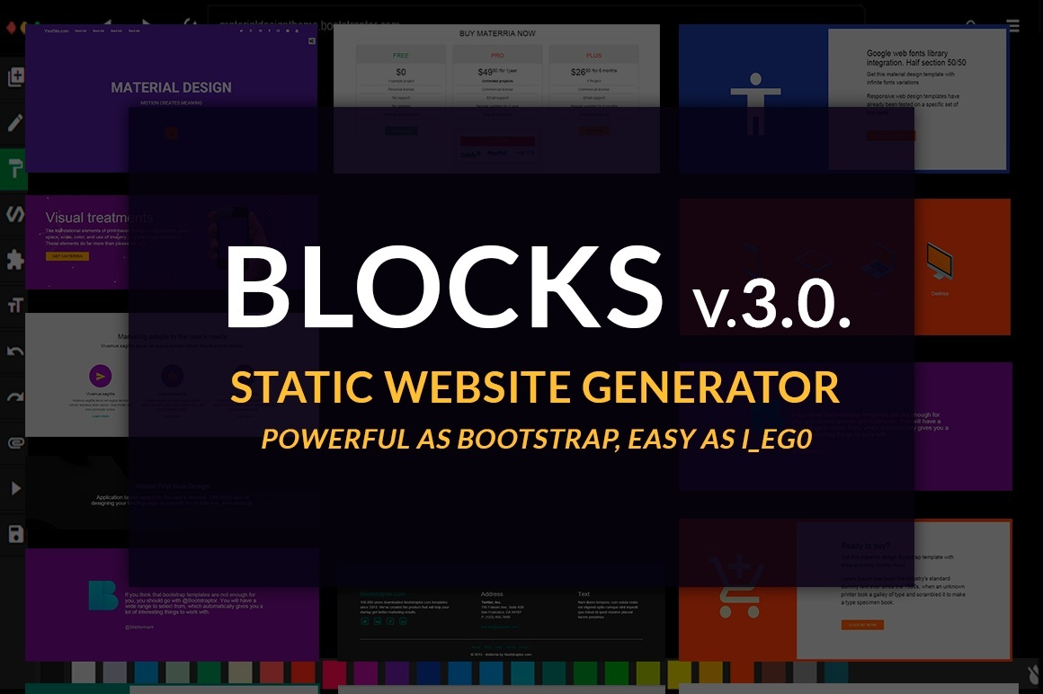 Bootstrap BLOCKS v3.0. BASIC LICENSE drag-and-drop builder