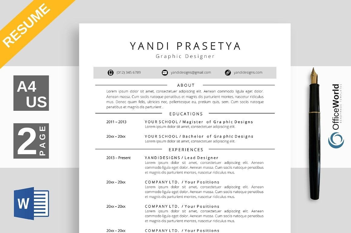 20 Resume Bundle Vol 1