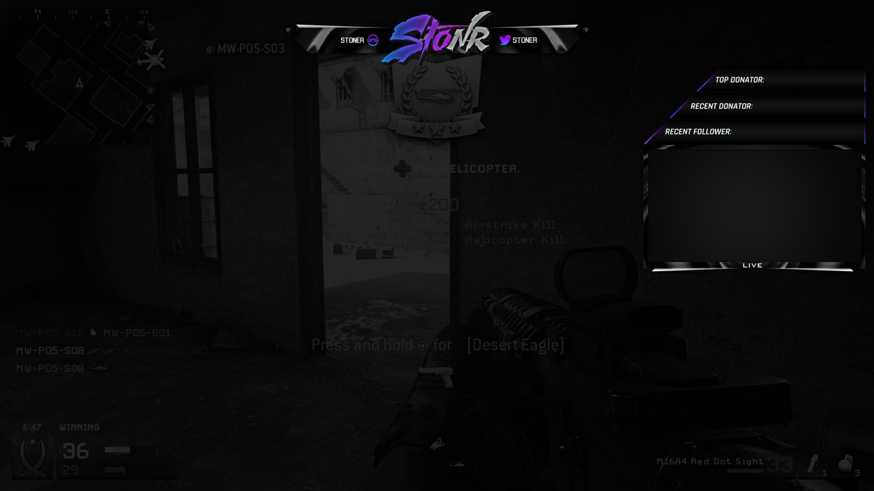 StonR Overlay PSD (color can be changed)