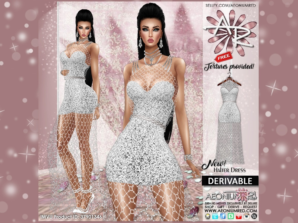 Imvu Freebie: Fishnet Halter Dress