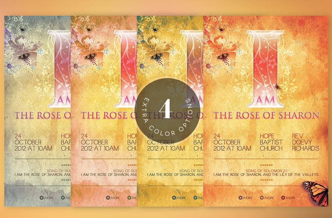 Rose of Sharon Church Flyer Template