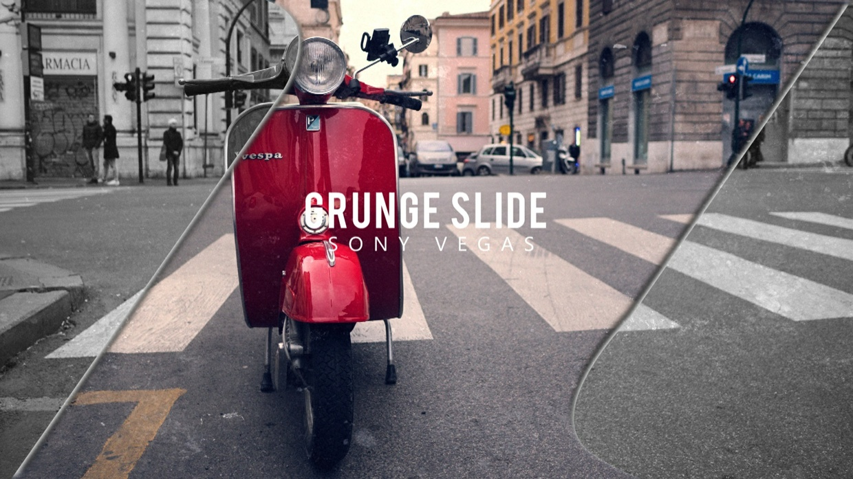 Template Grunge Photo Slideshow sony vegas 12 13 14