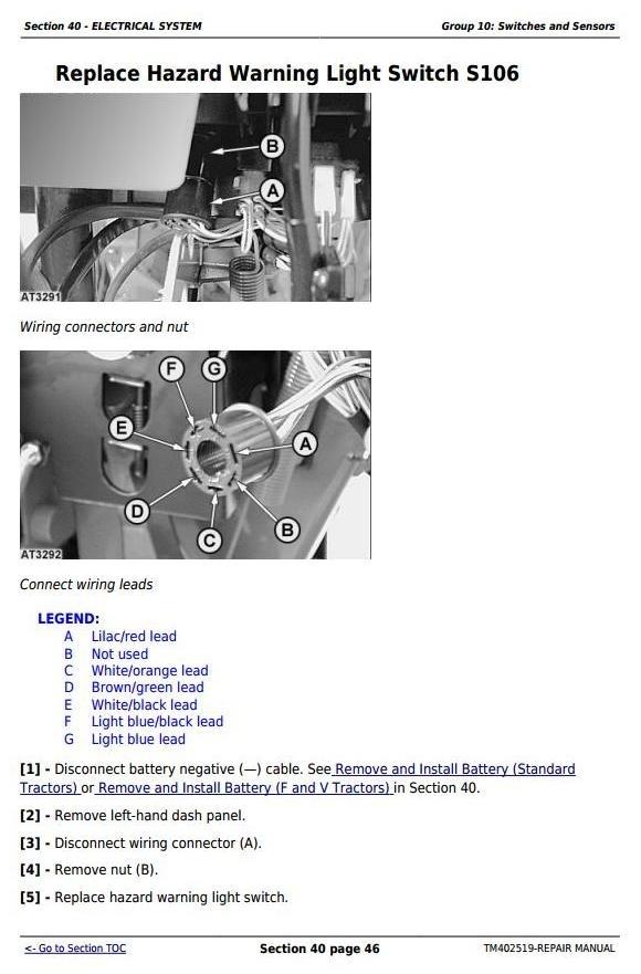 John Deere 5080G-5090G, 5090GH, 5080GV-5100GV, 5080GF-5100GF Tractors Repair Manual (TM402519)