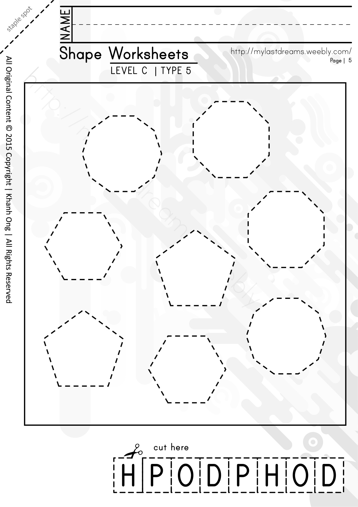 MLD - Basic Shapes Worksheets - Part 3 - A4 Sized
