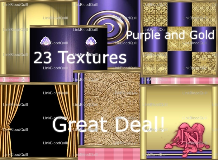 Purple and Gold Textures (23 Textures)